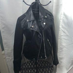 "Black ""vegan"" leather jacket"